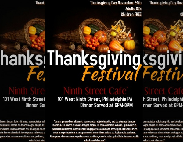 Fabulous Thanksgiving Flyer Design