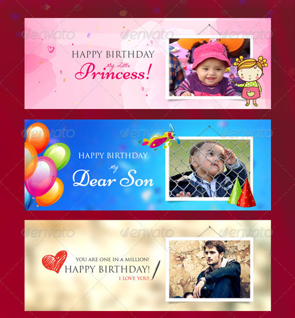 Facebook Timeline Birthday Banner Design