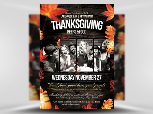 Fall Thanksgiving Flyer Template