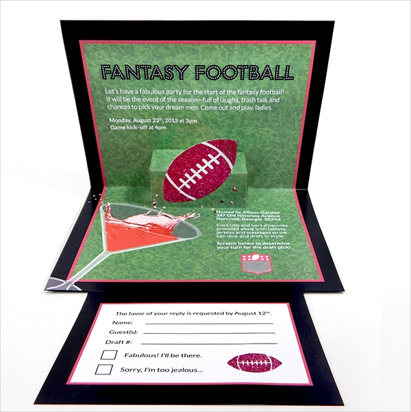 Fantasy Football Invitation Set