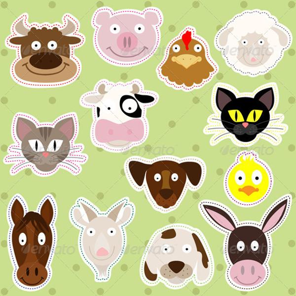 Farm Animal Cartoon Illustration