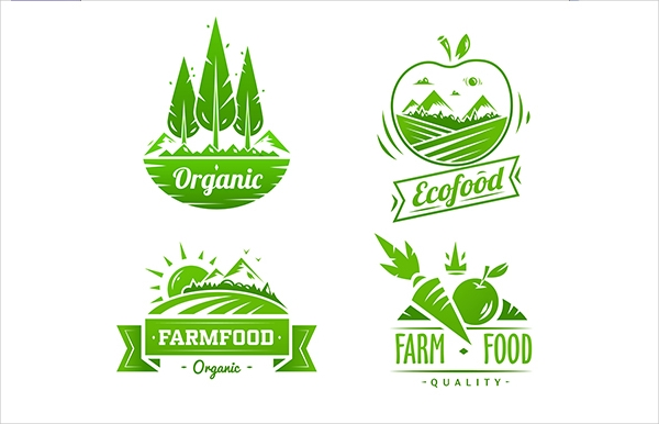 Farm Food Typography Design Label