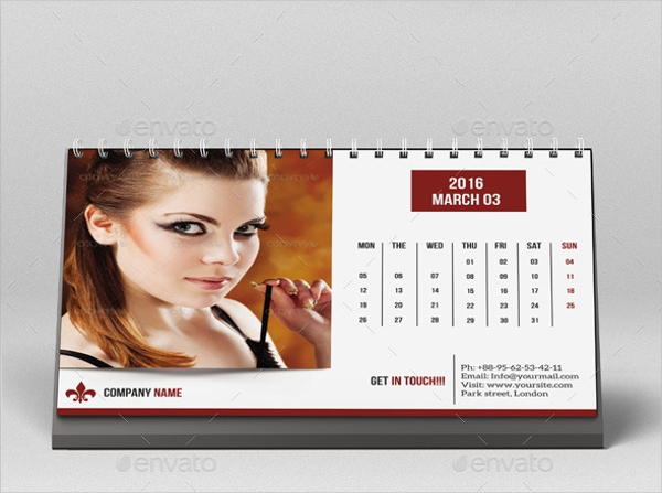 Fashion Photo Desk Calendar Design