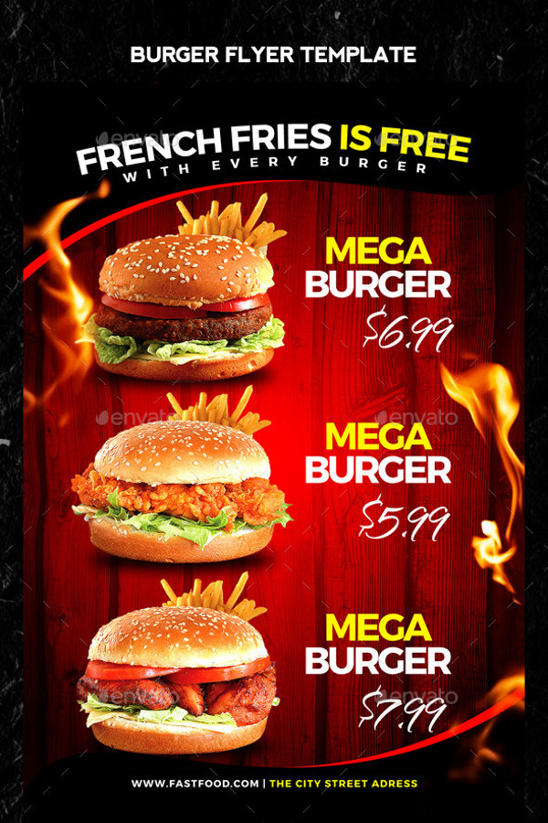 Fast Food Burger Flyer Design