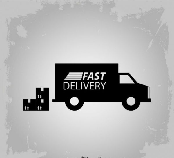 Fast delivery truck Advertisement