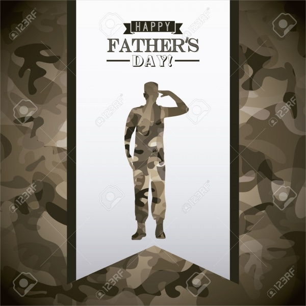 Fathers Day Holiday Card Design