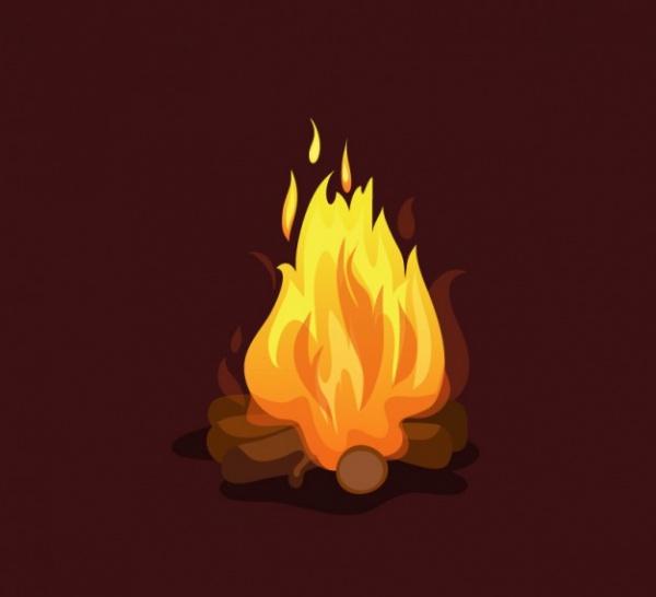 Fire Explosive Illustration Design