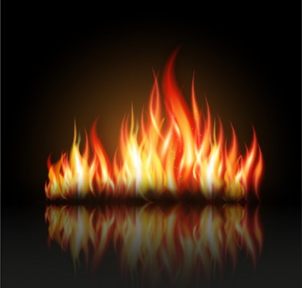 fire flames illustration free vector