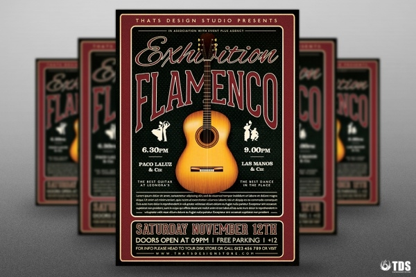 Flamenco Exhibition Flyer Template