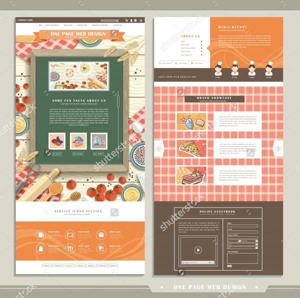Flat Design Restaurant Branding