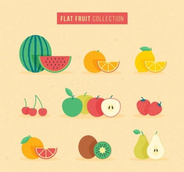 Flat Fruit Collection Set