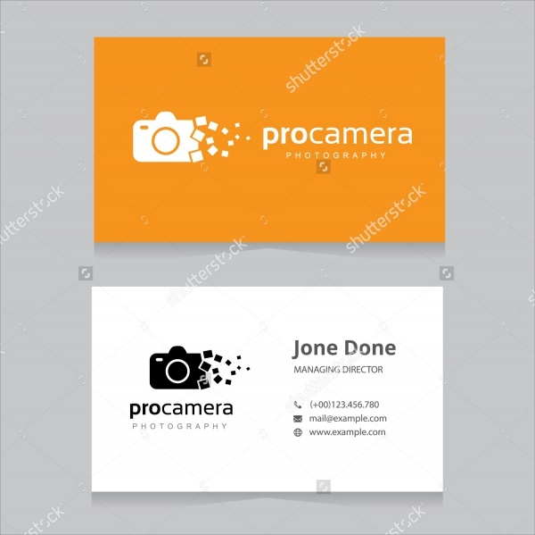 Flat Photography Business Card Design