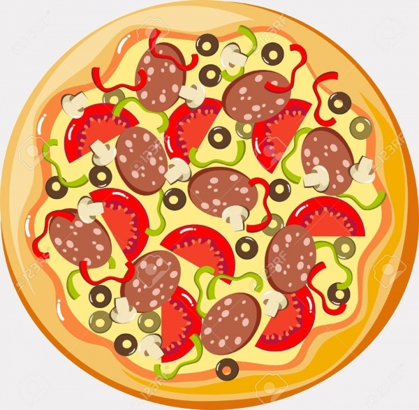 Flat Pizza Vector