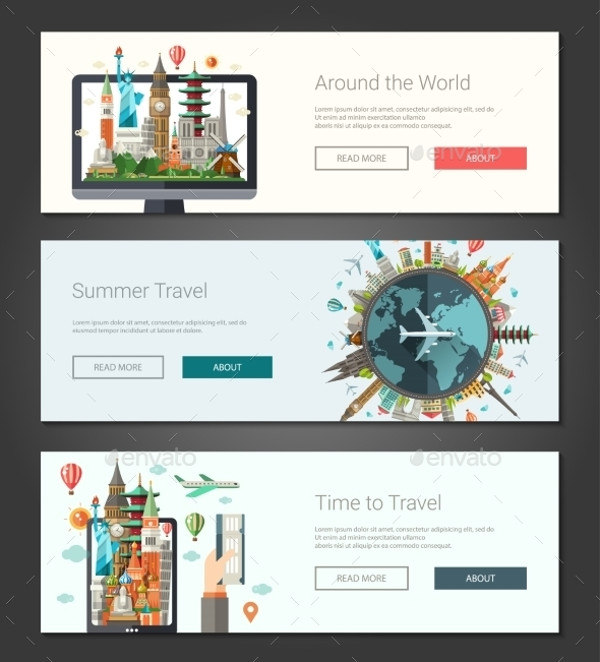 Flat Travel Design Banner