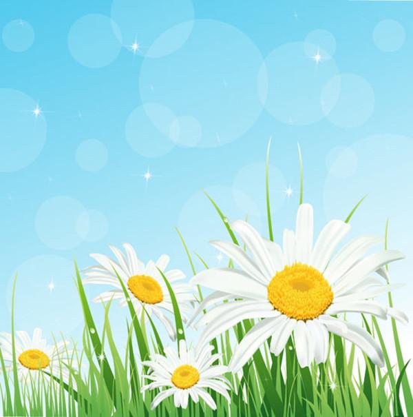 Floral Abstract Landscape Illustration