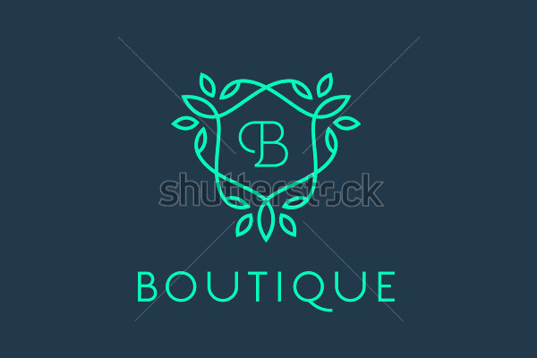 Floral Boutique Logo Template