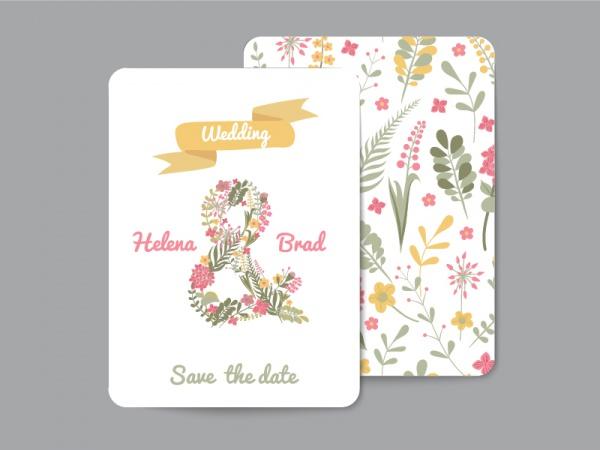 Floral Greeting Cards Wedding Invitation