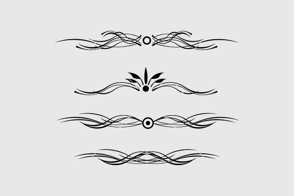 Floral Line Vector Design