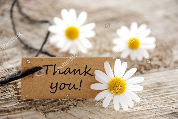 Floral Thank You Banner