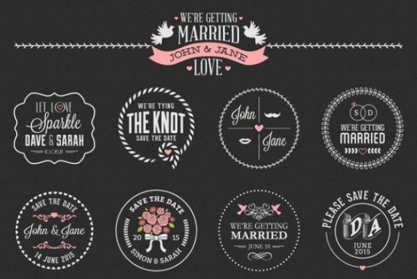 Floral Wedding Invitation Label