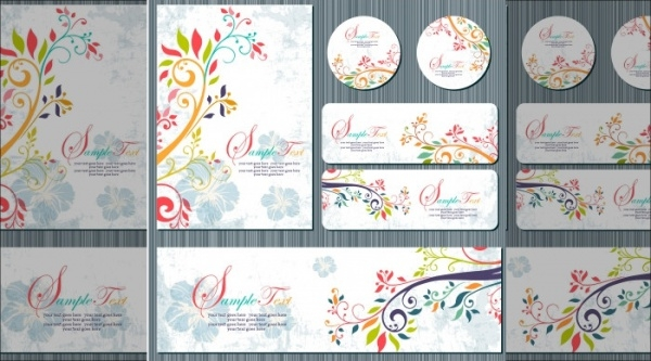 Floral Corporate Identity Vector