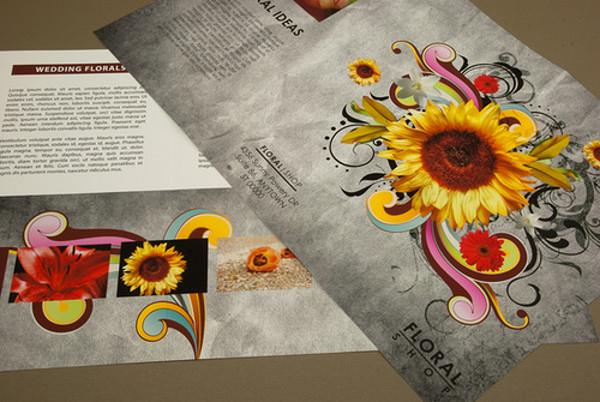 Vintage Floral Brochure Template