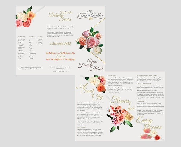 Florist Triple Fold Brochure Design
