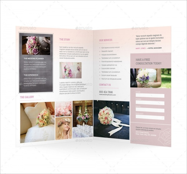 Florist Brochure Templates  Free Psd Vector Eps Jpg Download