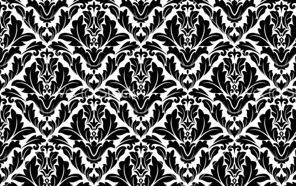 Flourish Pattern in Damask Style