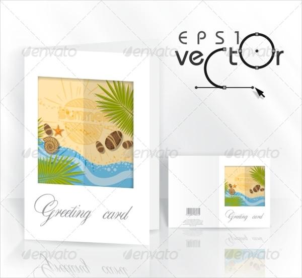 Flower Design Greeting Card