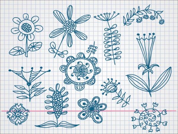 Flower Doodle Vectors For Desktop