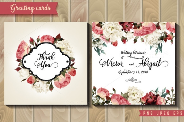 Flowers & Greeting Card Design with Roses