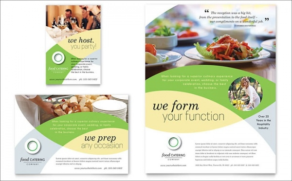 Food Catering Flyer Template Design