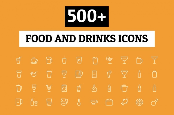 Food & Drinks Transparent Icons