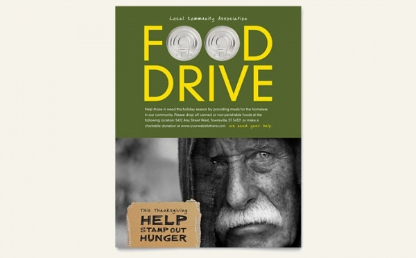 Food Drive High Resolution Flyer