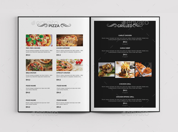 Menu Brochure Designs PSD Vector EPS JPG Download - Menu brochure template