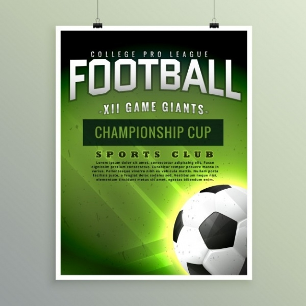 Football Championship Poster Invitation Template