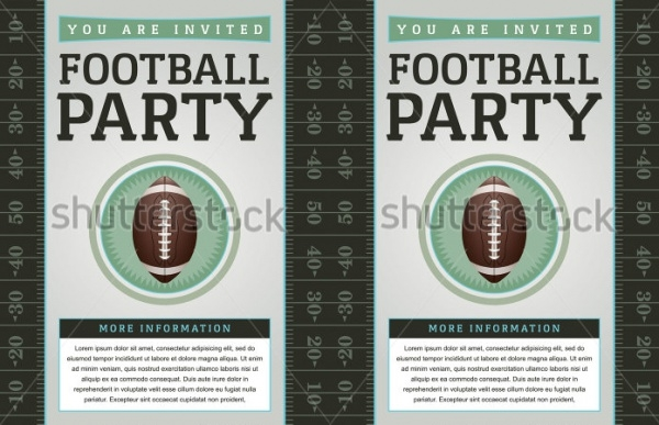 Football Flyer Design Invitation Template