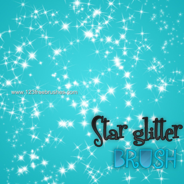 Fractal Star Glitter Brushes