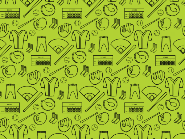 Free Colorful Baseball Pattern