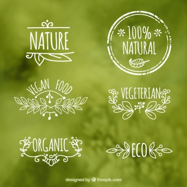 Free Ecologic Food Labels Design