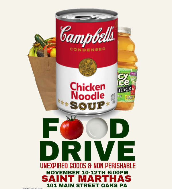 how to start a food drive at church