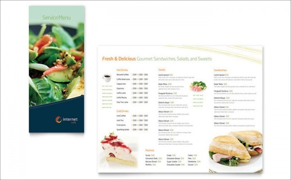 Free Menu Template Design