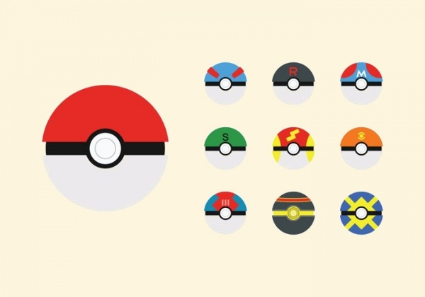 Free Poke Ball Vector