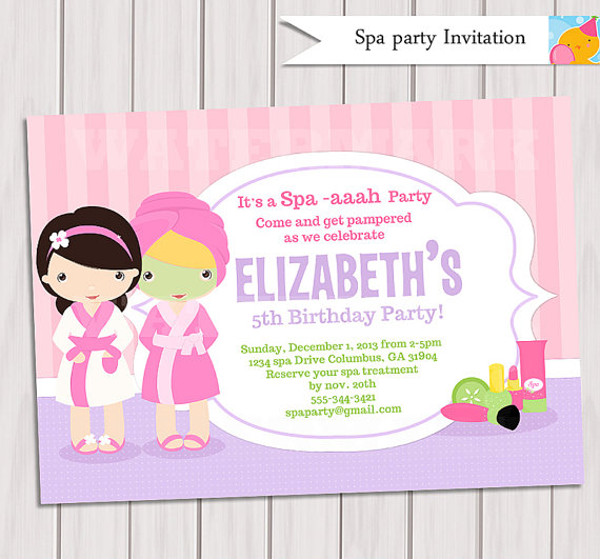 20 Spa Party Invitations PSD Vector EPS JPG Download – Party Invitations for Free