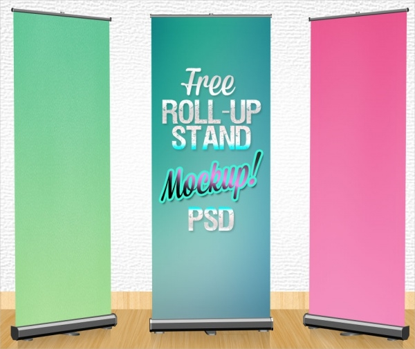 Free Roll-up Banner Stand Design Template