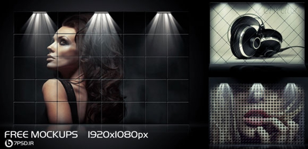 Free Spot Light Photo PSD