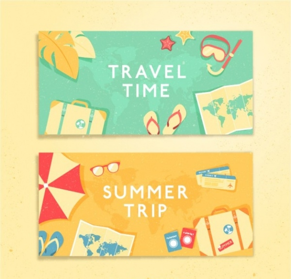 Free Travel Holiday Time Banner