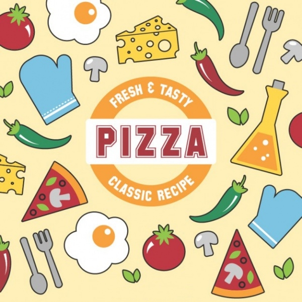 Fresh and Tasty Pizza Vector
