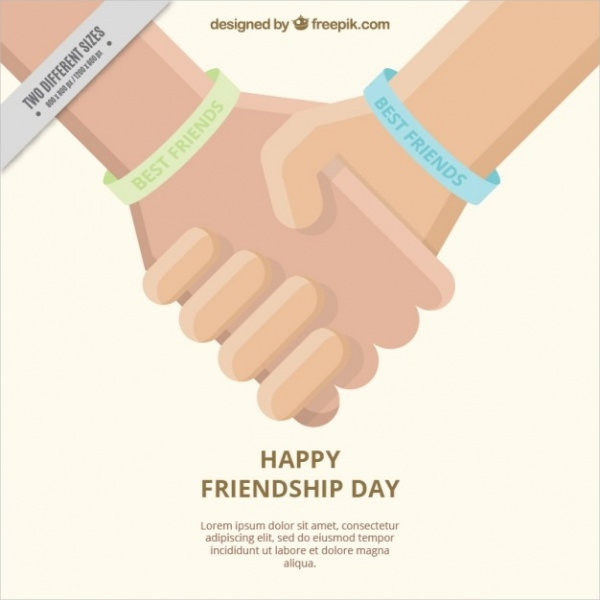 Friendship Day Holiday Card Design